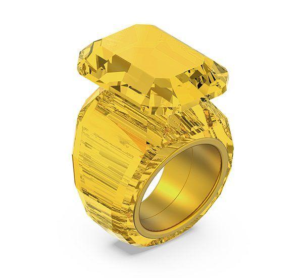 Коктейльное кольцо Yellow Lucent