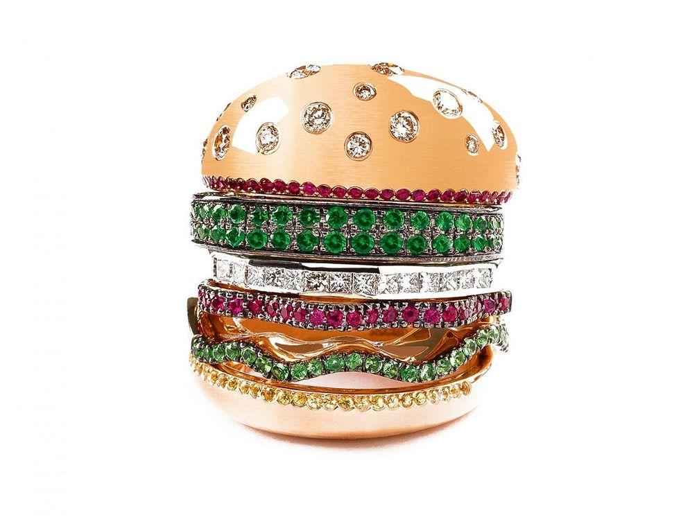 Кольцо «Вегетарианский бургер»