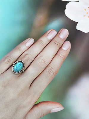 кольцо с магнезитом