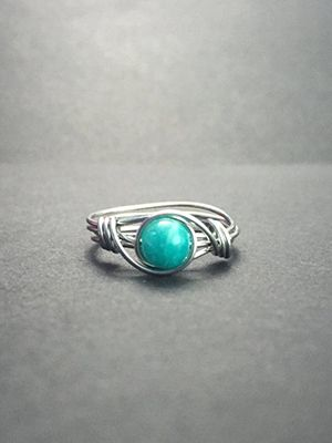 амазонит кольцо