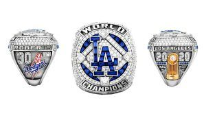 Кольцо клуба «Лос-Анджелес Доджерс» с 232 бриллиантами