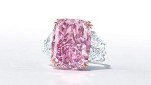 Самый крупный пурпурно-розовый бриллиант, когда-либо выставленный на аукцион