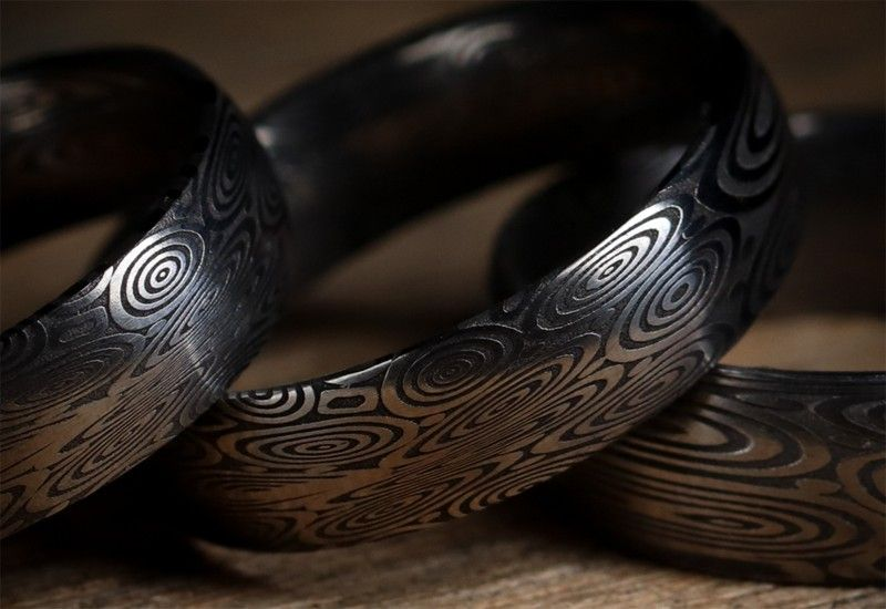 Стальные и титановые обручальные кольца