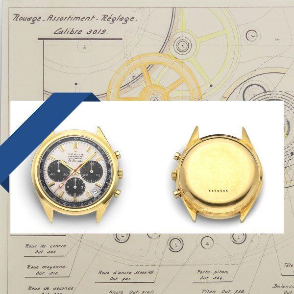 Архивные технические чертежи и G581 – первый хронограф El Primero компании Zenith