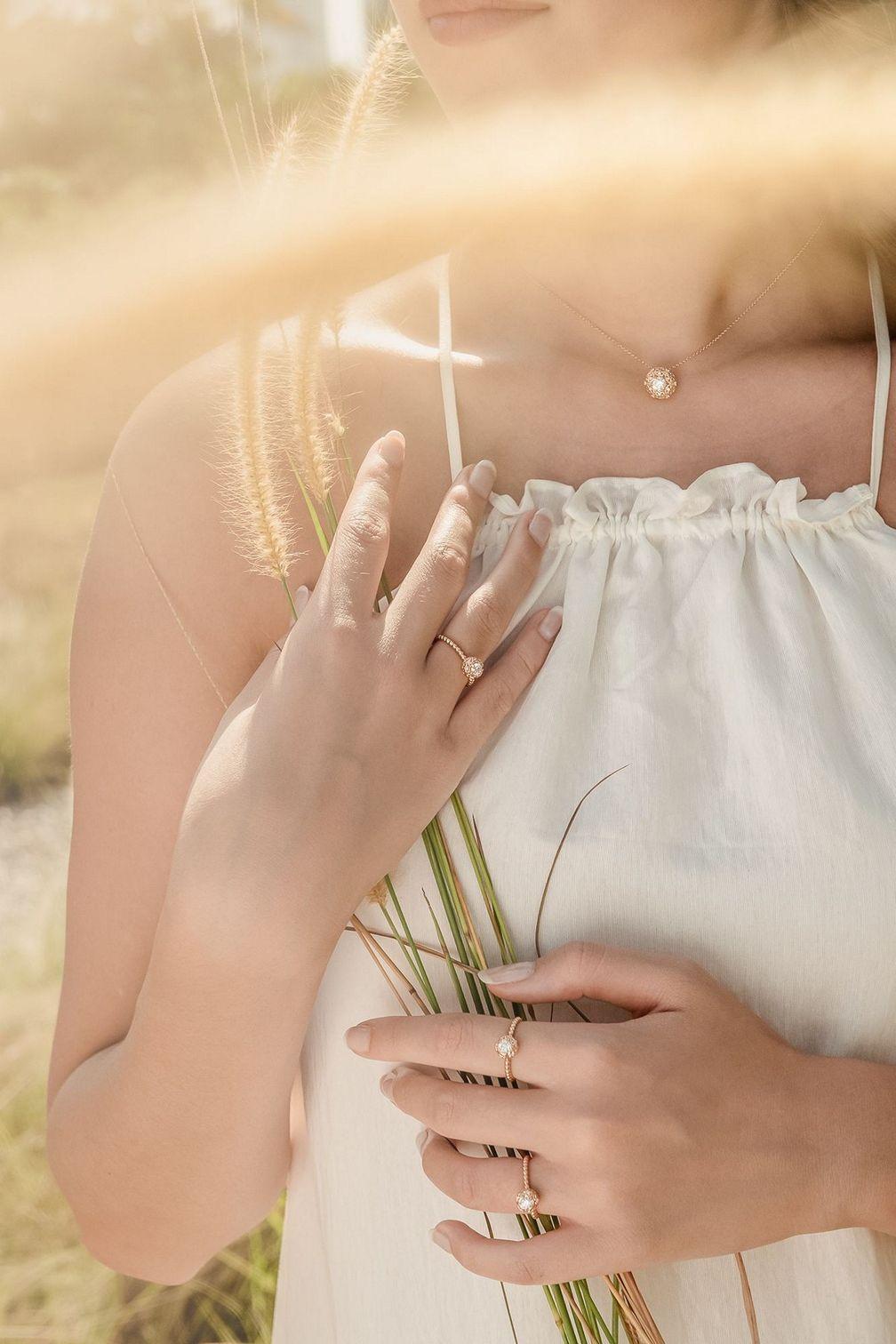 Изысканные бриллиантовые колье и кольцо Lovedrops