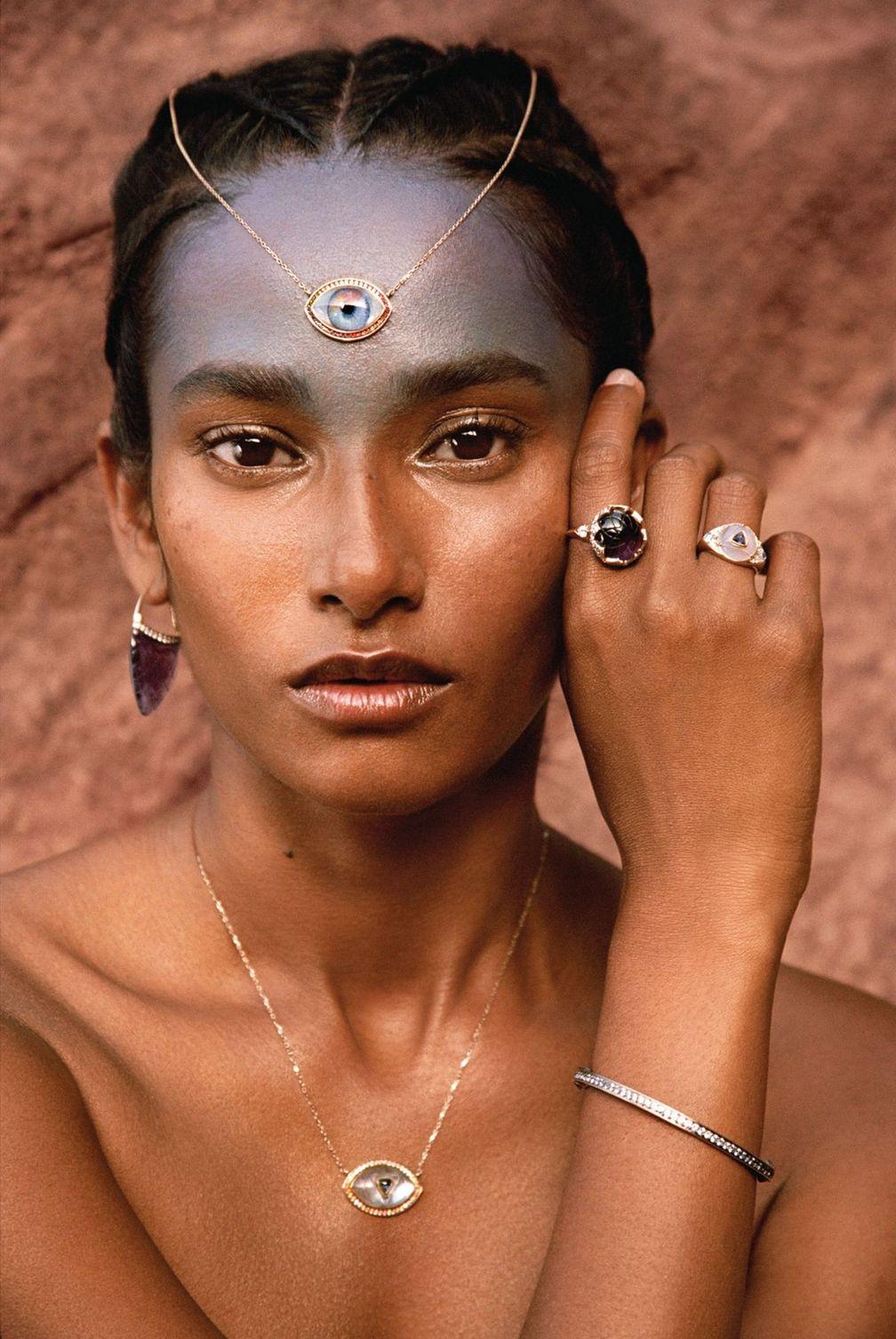 Ожерелье Personalized Eye, кольцо Sahasrara, кольцо Ajna, браслет Ajna, подвеска Ajna, серьги Sahasrara