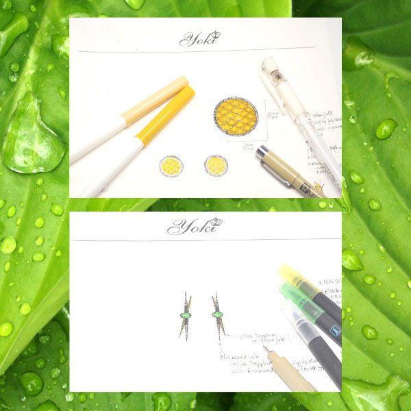 Эскизы будущих произведений бренда Yoki Collections