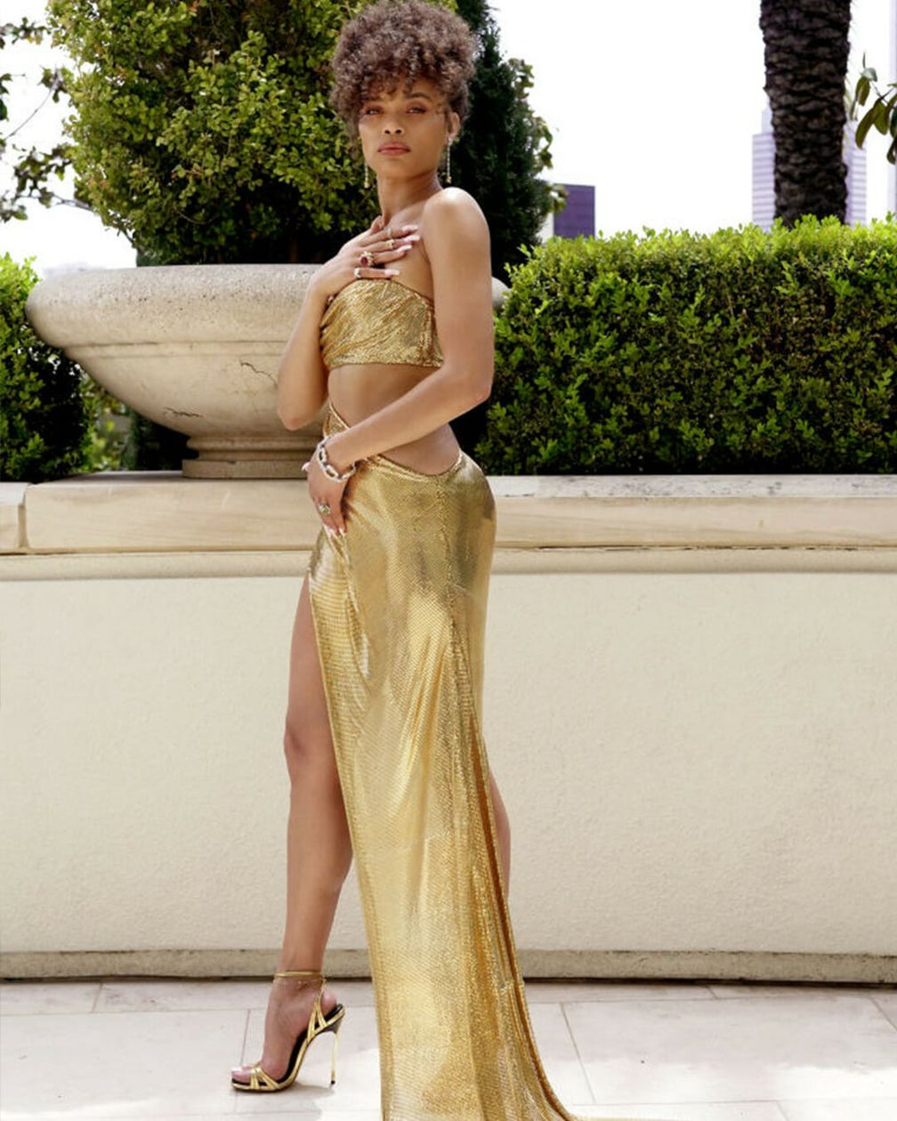 Андра Дэй в украшениях с бриллиантами Tiffany & Co во время 93-й церемонии вручения премии «Оскар»