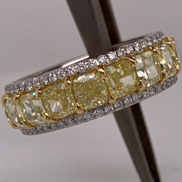 Обручальное кольцо от Le Vian из платины и желтого золота с солнечно-желтыми и ванильными бриллиантами