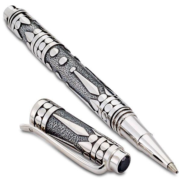 Шариковая ручка от Samuel B. Collection из стерлингового серебра с черной шпинелью