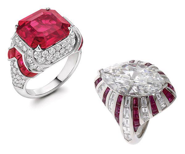 Кольцо Magnifica High Jewelry от Bulgari и кольцо High Jewelry от Bulgari