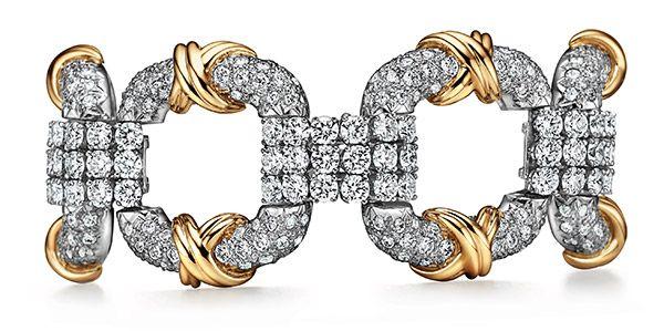 Браслет Schlumberger Cooper от Tiffany & Co. из платины и желтого золота 18 карат с бриллиантами
