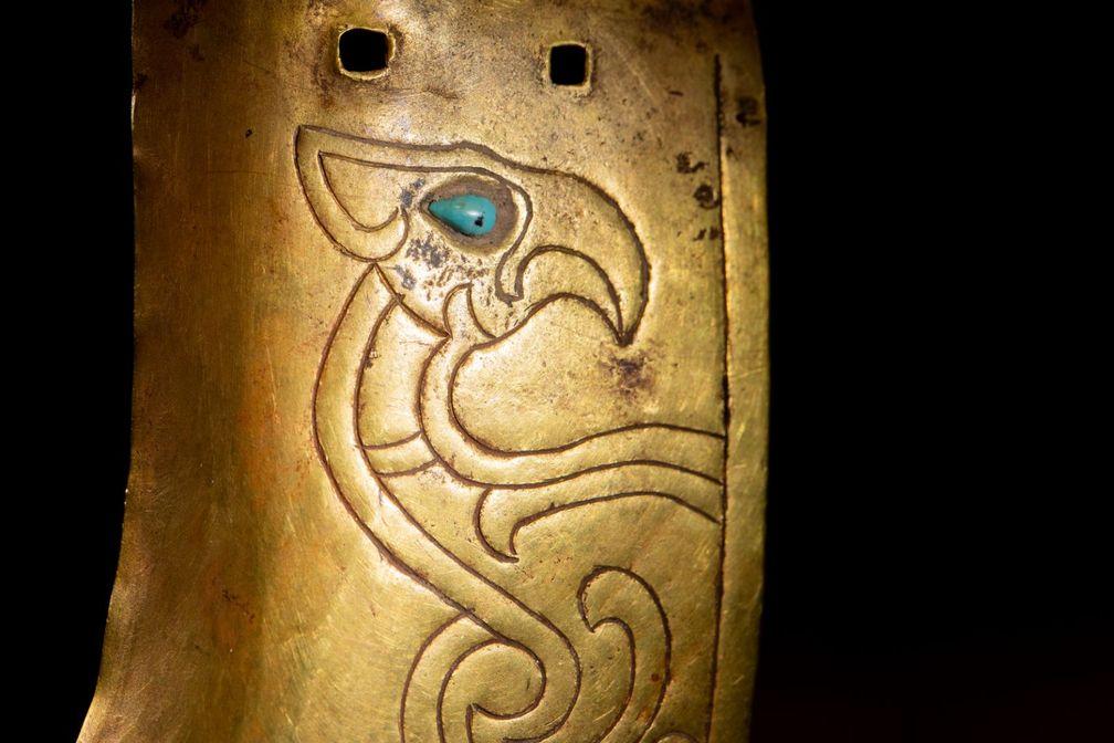 золотое кольцо, отлитое во время правления династии Цин