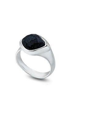 кольцо с черным авантюрином