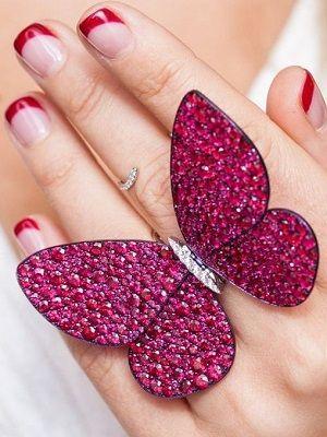кольцо с рубинами