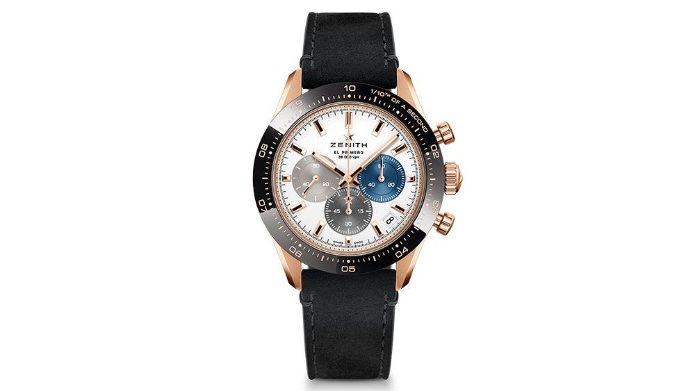 Часы оснащены 41-миллиметровым корпусом из 18-каратного розового золота с кнопками-помпами