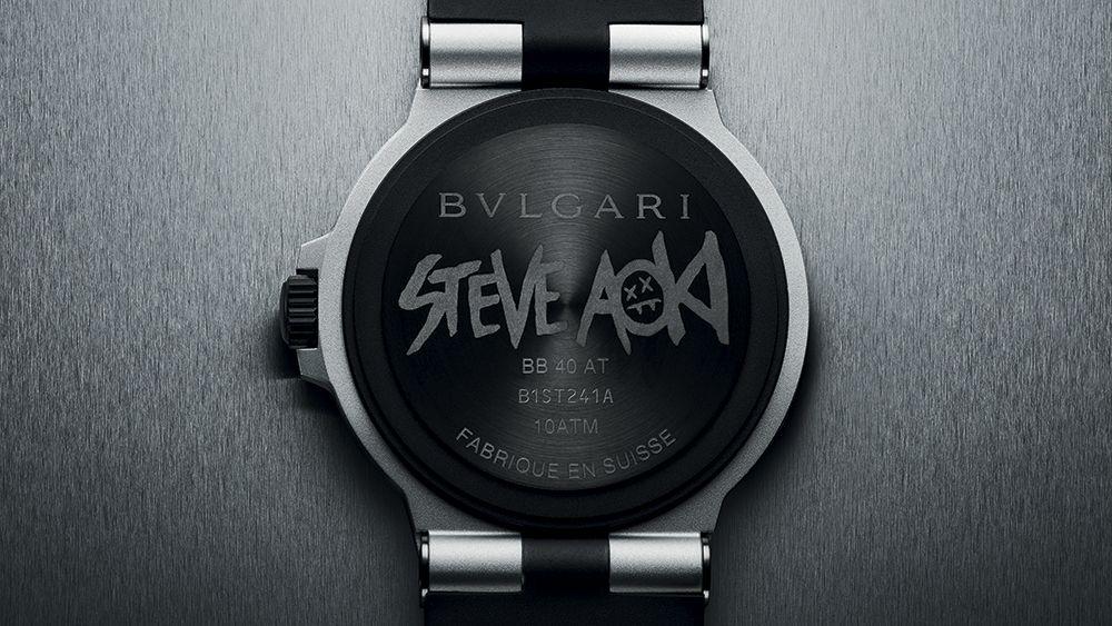 Задняя крышка часов Aluminium Steve Aoki от Bulgari