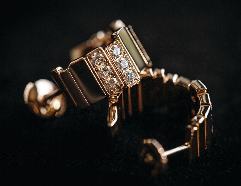 Серьги Gem Dior из желтого золота с бриллиантами от Dior Joaillerie