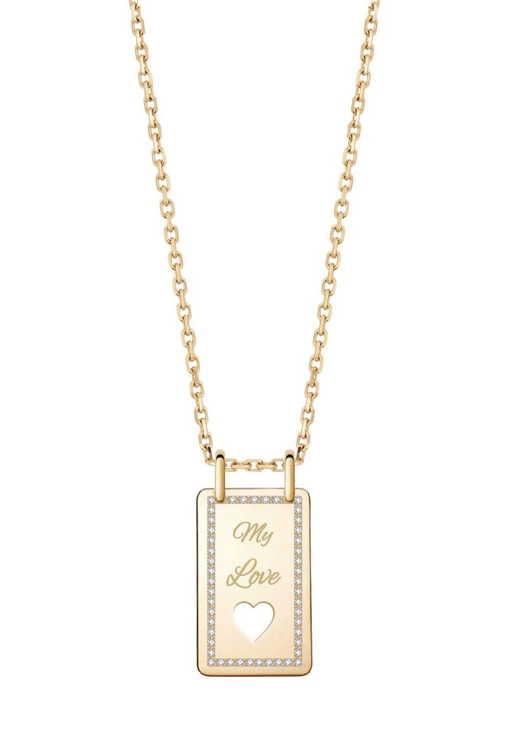 Колье Love Forever из желтого золота с бриллиантами от Venyx