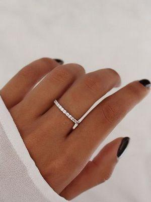 посеребрянное кольцо