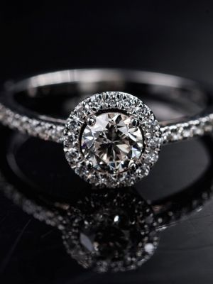 Бриллиантовое кольцо-ореол
