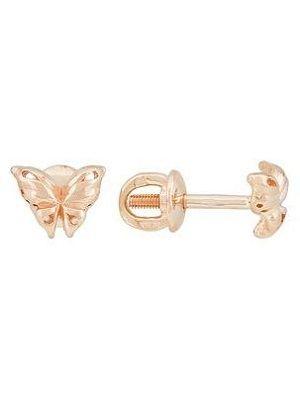 серьги в виде бабочки