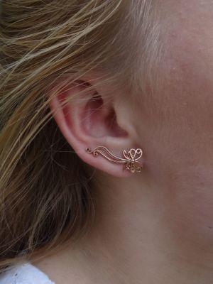 Серьги вдоль мочки уха