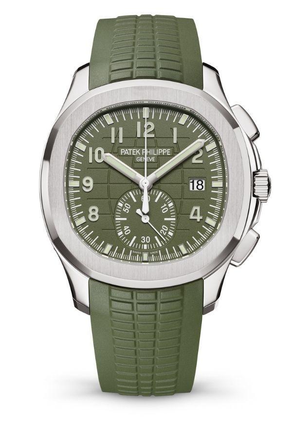 Aquanaut Chronograph от Patek Philippe в зеленом цвете хаки