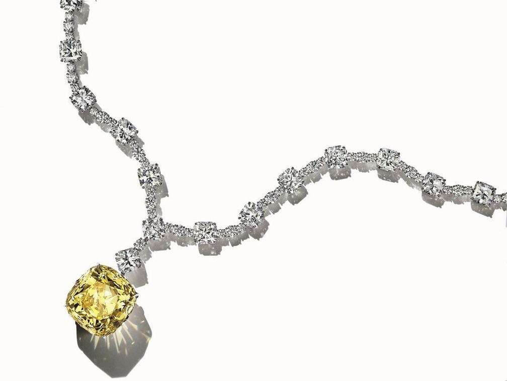 Желтый бриллиант Tiffany весом 128,54 карата