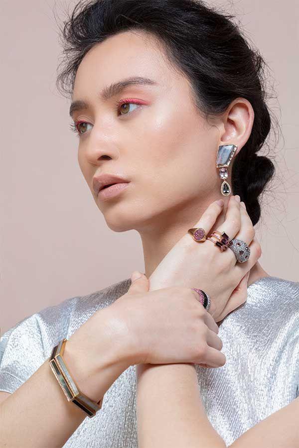 Серьги Ursula, кольцо-печатка Ombré, кольца Jen, Кольцо Sparkle, кольца Puffy, кольцо Flamingo Puffy, браслеты