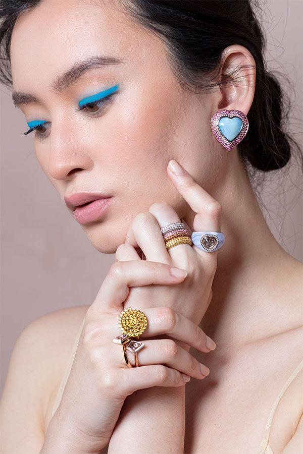 Серьги Odette, кольцо Puffy, кольцо Sunrise Puffy, кольцо Chubby, спиральное кольцо, кольца Twinkle