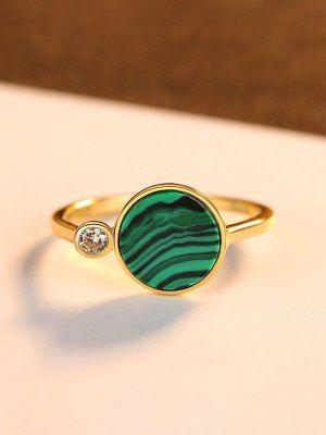 Золотые кольца с малахитом: особенности, как выбрать и носить