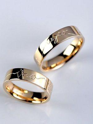 Обручальные кольца с гравировкой: особенности, полезные советы