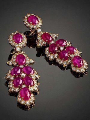 Золотые серьги с рубином: особенности, как выбрать и носить