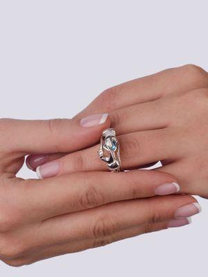 Фантазийное кольцо с топазом