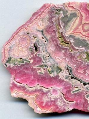 Розовый малахит с родохризотом