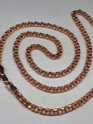 золотая цепочка с плетением Бисмарк