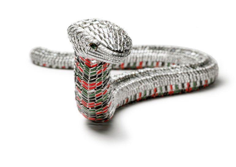 Ожерелье в форме змеи, сделанное Cartier для мексиканской звезды Марии Феликс в 1968 году