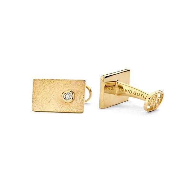 Запонки Gold Rush из 18-каратного золота с бриллиантами