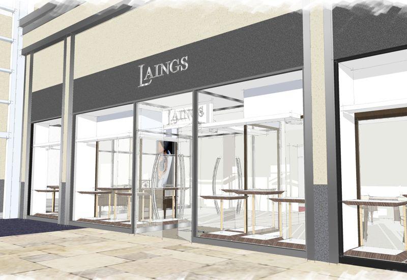 Эскиз обновленного магазина Laings