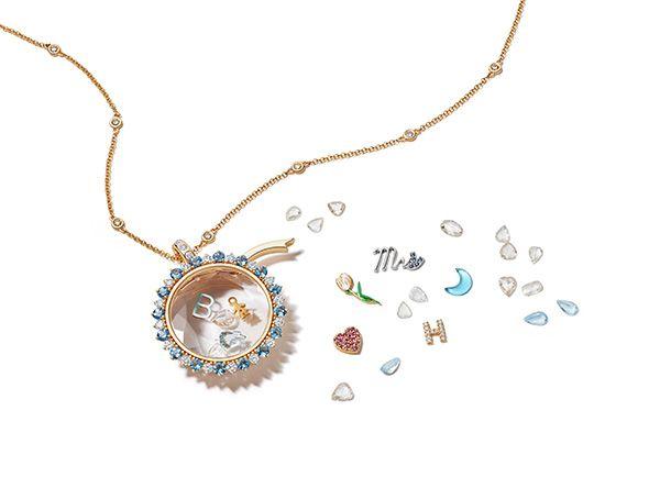 Подвеска Something Blue Miasol из 18-каратного золота с бриллиантами и аквамаринами, 7300 долларов США