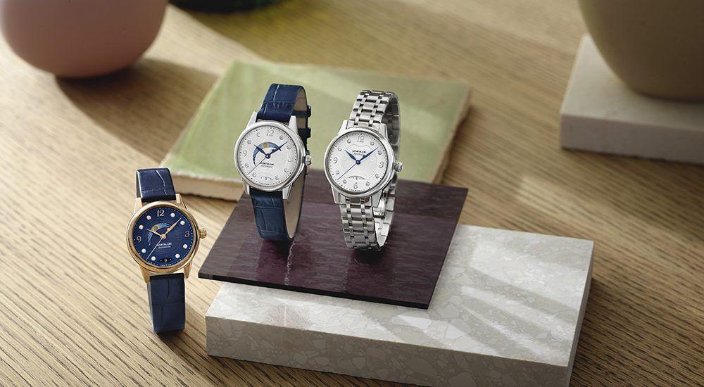 Часы Bohème Day & Night 34 мм с белым циферблатом, двухцветная модель, а также часы из стерлингового серебра серии Boheme