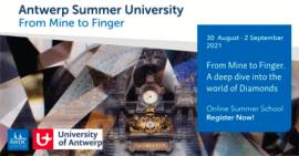 Открыта регистрация на учебу в летнем университете Антверпена «From Mine To Finger»