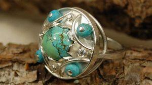 Серебряные кольца с бирюзой: особенности, с чем выбрать и носить