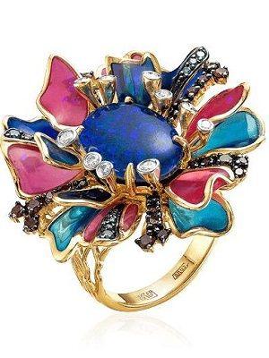 Золотые кольца с эмалью: особенности, с чем выбрать и носить