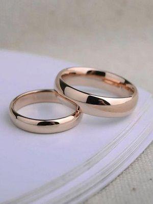 классические кольца для венчания