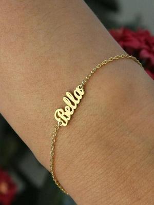 браслет из золота с надписью