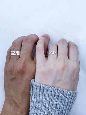 как носить парные кольца