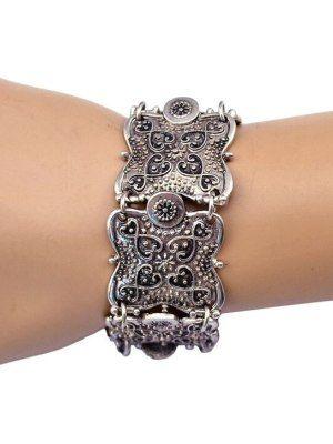 Широкий серебряный браслет