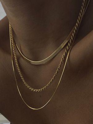 разновидности цепочек под золото